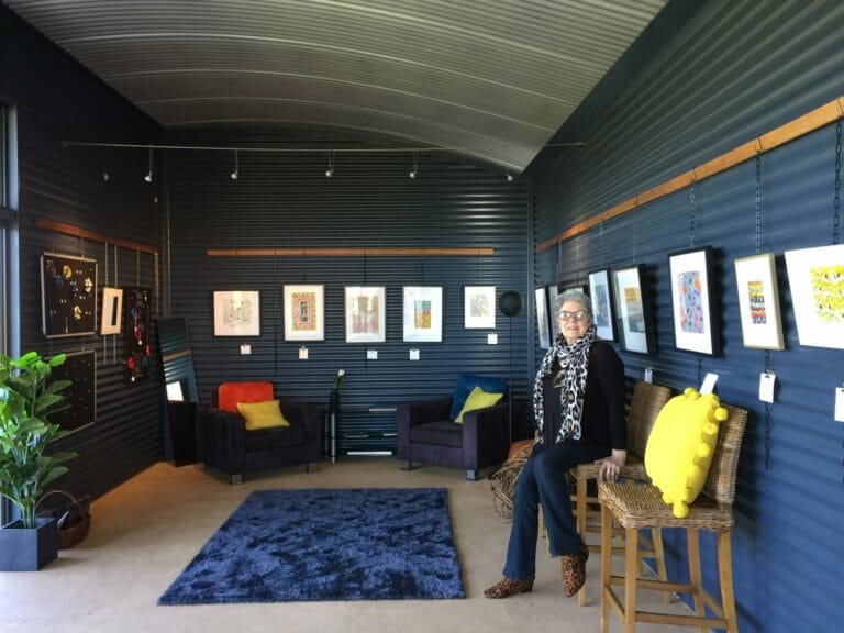 "Hilde Ranson in her ""Flornamental"" art gallery in Duke's Vineyard"