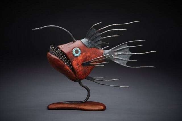 Funky Fish Sculpture by Dave Taylor - Lothlorien Studio