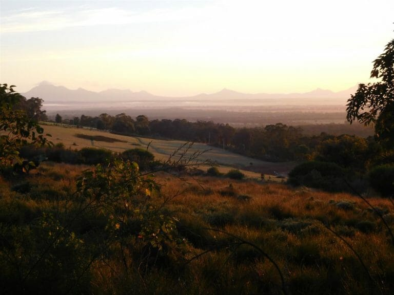 View from Thorn's Mountain Retreats to the Stirling Ranges