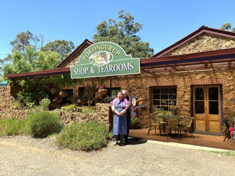 Di and Scott Drummond outside their Porongurup Inn