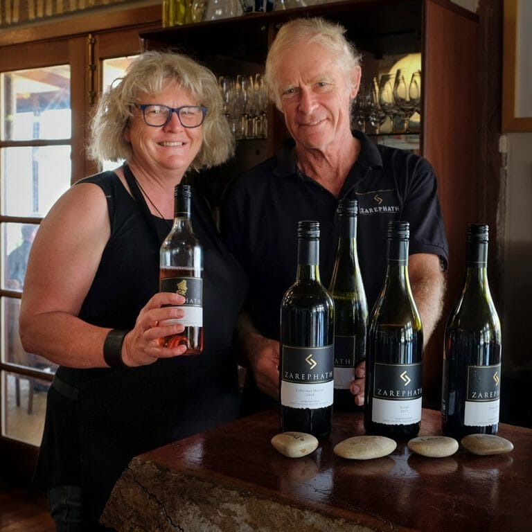 Rosie and Ian of Zarephath Wines