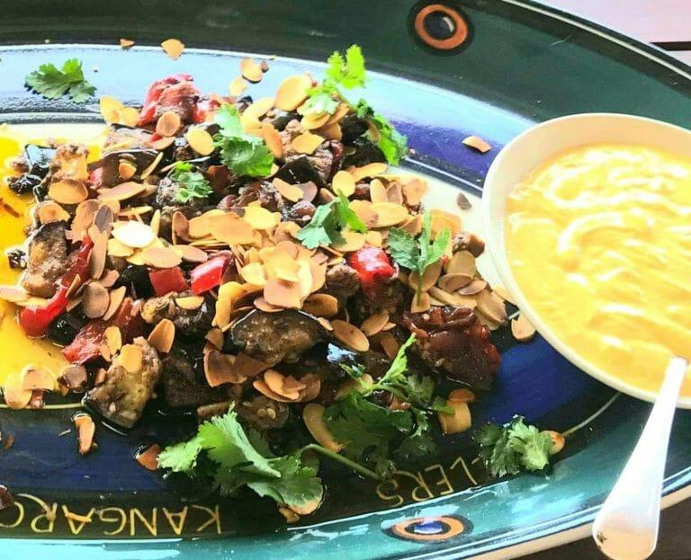 Sumac eggplant and spiced yoghurt, Zarephath Wines Café
